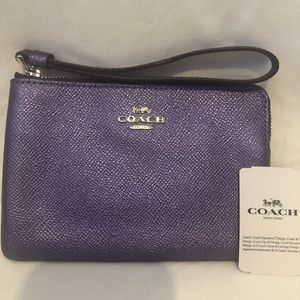 Coach wristlet - purple NWT and box